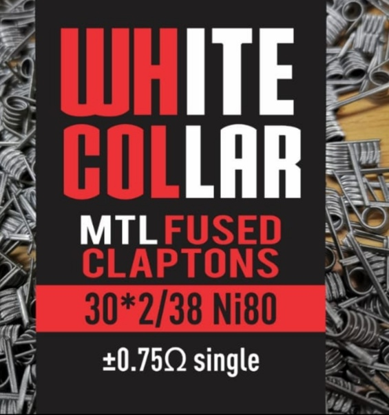 White Collar MTL Fused Claptons